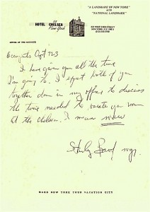 Letter from stanley bard